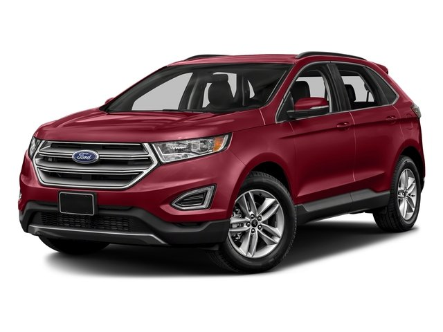 Ruby Red Metallic Tinted Clearcoat 2018 Ford Edge Pictures Edge Utility 4D Titanium 2WD V6 photos front view