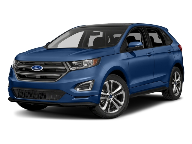 Lightning Blue Metallic 2018 Ford Edge Pictures Edge Sport AWD photos front view