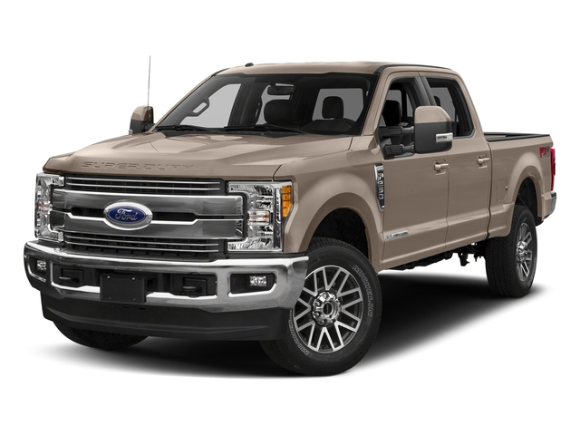 White Gold Metallic 2018 Ford Super Duty F-350 SRW Pictures Super Duty F-350 SRW LARIAT 4WD Crew Cab 8' Box photos front view