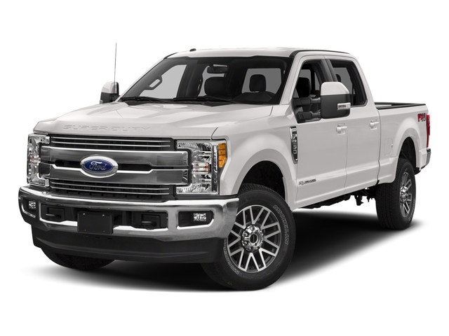 White Platinum Metallic Tri-Coat 2018 Ford Super Duty F-350 SRW Pictures Super Duty F-350 SRW LARIAT 4WD Crew Cab 8' Box photos front view