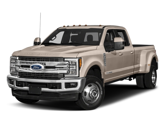 White Gold Metallic 2018 Ford Super Duty F-350 DRW Pictures Super Duty F-350 DRW Crew Cab King Ranch 2WD photos front view