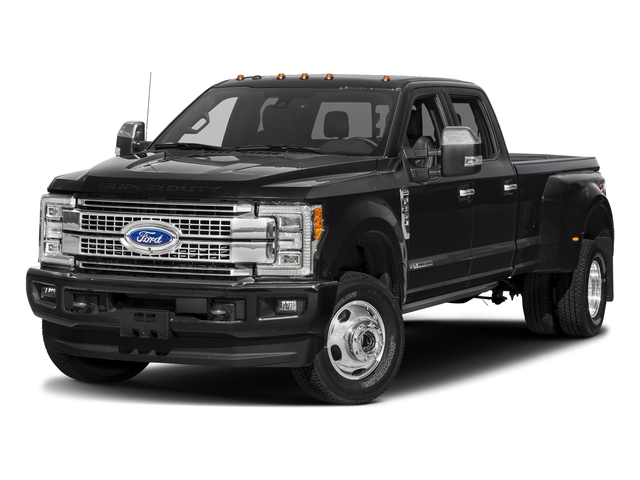 Shadow Black 2018 Ford Super Duty F-350 DRW Pictures Super Duty F-350 DRW Platinum 4WD Crew Cab 8' Box photos front view