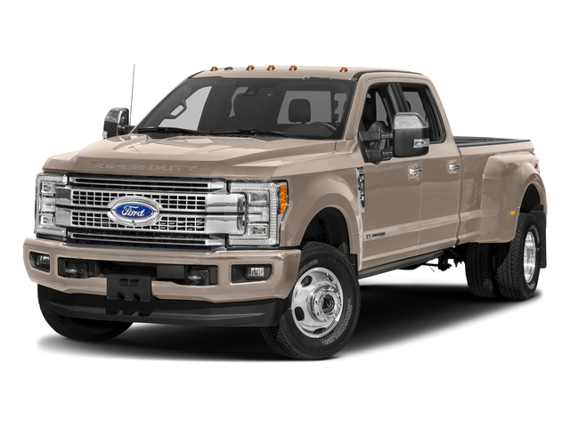 White Gold Metallic 2018 Ford Super Duty F-350 DRW Pictures Super Duty F-350 DRW Platinum 4WD Crew Cab 8' Box photos front view