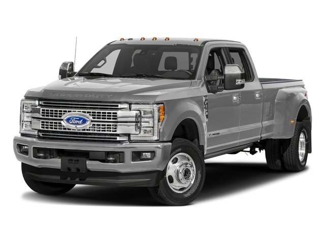 Ingot Silver Metallic 2018 Ford Super Duty F-350 DRW Pictures Super Duty F-350 DRW Platinum 4WD Crew Cab 8' Box photos front view