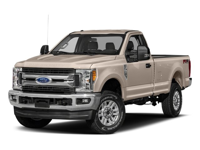 White Gold Metallic 2018 Ford Super Duty F-250 SRW Pictures Super Duty F-250 SRW XLT 2WD Reg Cab 8' Box photos front view