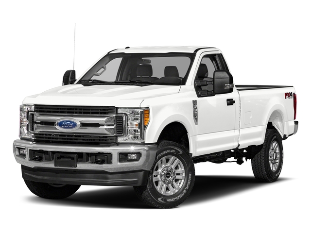 Oxford White 2018 Ford Super Duty F-250 SRW Pictures Super Duty F-250 SRW XLT 2WD Reg Cab 8' Box photos front view