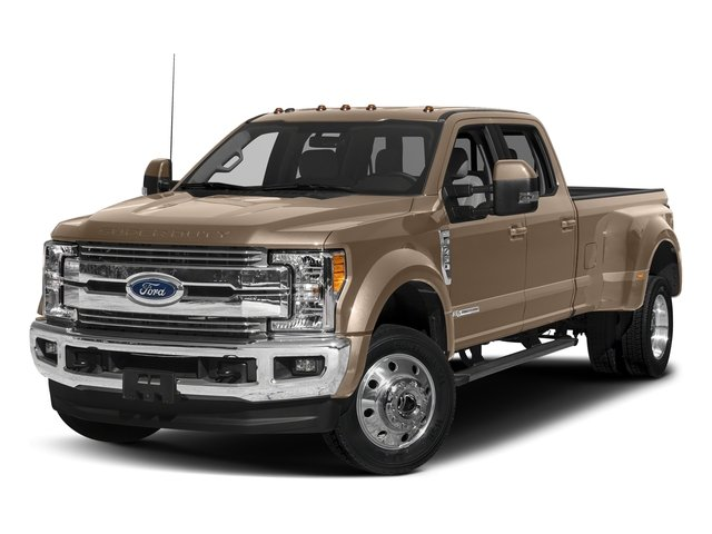 White Gold Metallic 2018 Ford Super Duty F-450 DRW Pictures Super Duty F-450 DRW Crew Cab XLT 4WD T-Diesel photos front view