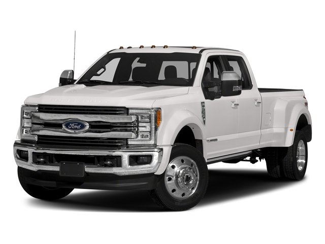 White Platinum Metallic Tri-Coat 2018 Ford Super Duty F-450 DRW Pictures Super Duty F-450 DRW Crew Cab King Ranch 2WD T-Diesel photos front view