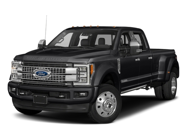 Shadow Black 2018 Ford Super Duty F-450 DRW Pictures Super Duty F-450 DRW Platinum 2WD Crew Cab 8' Box photos front view