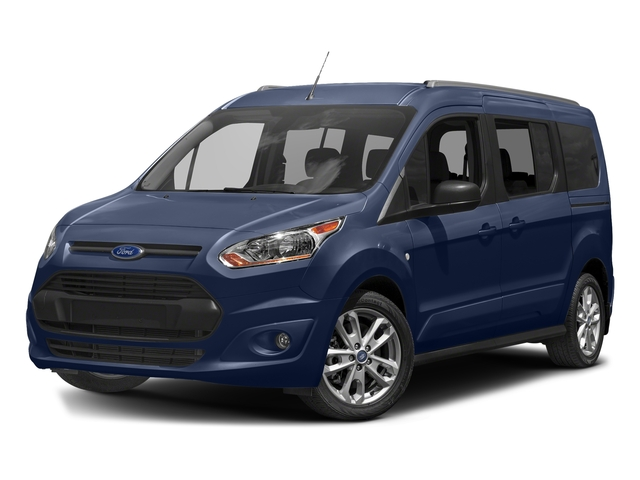 Deep Impact Blue Metallic 2018 Ford Transit Connect Wagon Pictures Transit Connect Wagon XLT SWB w/Rear Symmetrical Doors photos front view