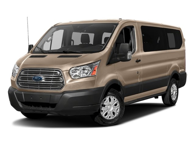 White Gold Metallic 2018 Ford Transit Passenger Wagon Pictures Transit Passenger Wagon Passenger Van XLT Low Roof photos front view