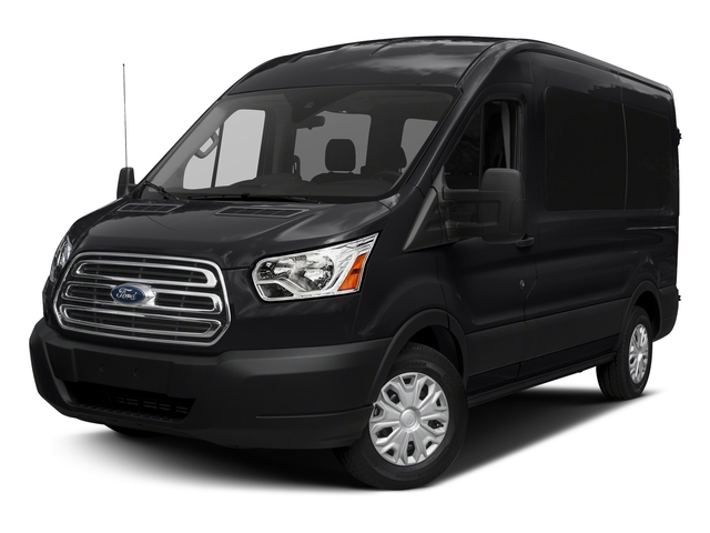 Shadow Black 2018 Ford Transit Passenger Wagon Pictures Transit Passenger Wagon Passenger Van XL Medium Roof photos front view
