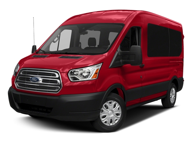 Race Red 2018 Ford Transit Passenger Wagon Pictures Transit Passenger Wagon Passenger Van XL Medium Roof photos front view