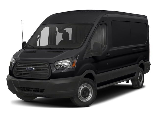 Shadow Black 2018 Ford Transit Van Pictures Transit Van T-250 148 Med Rf 9000 GVWR Dual Dr photos front view