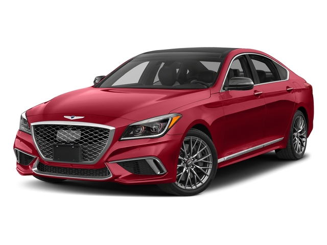 Sevilla Red 2018 Genesis G80 Pictures G80 3.3T Sport AWD photos front view