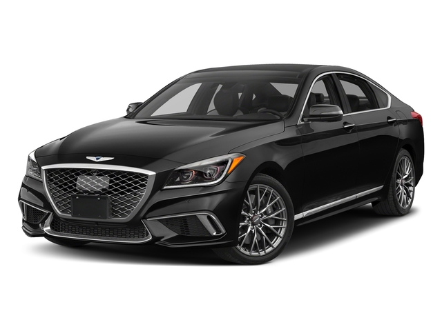 Caspian Black 2018 Genesis G80 Pictures G80 3.3T Sport AWD photos front view