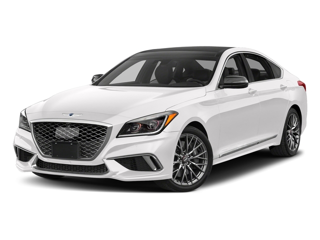 Casablanca White 2018 Genesis G80 Pictures G80 3.3T Sport AWD photos front view
