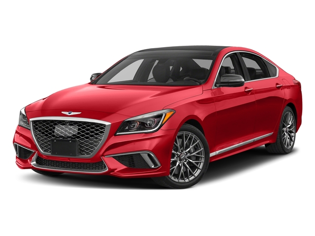 Havana Red 2018 Genesis G80 Pictures G80 3.3T Sport AWD photos front view