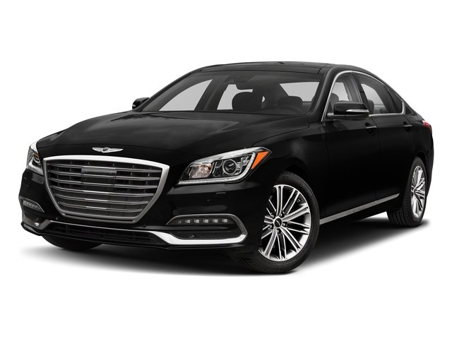 Victoria Black 2018 Genesis G80 Pictures G80 3.8L AWD photos front view