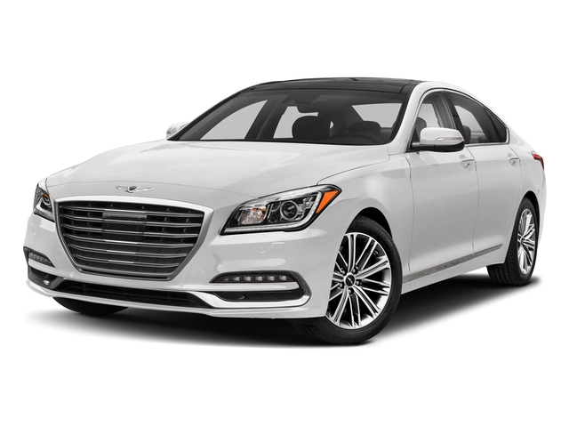 Casablanca White 2018 Genesis G80 Pictures G80 3.8L AWD photos front view