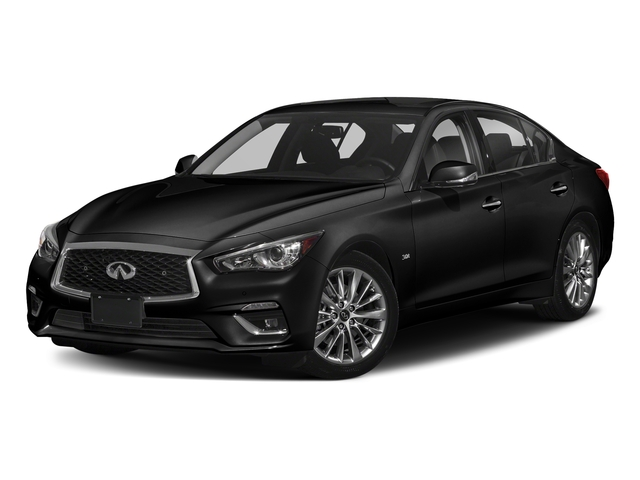 Black Obsidian 2018 INFINITI Q50 Pictures Q50 2.0t PURE RWD photos front view