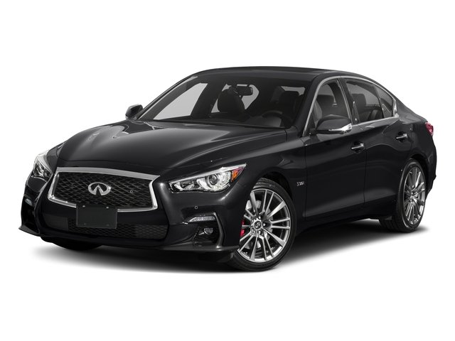 Midnight Black 2018 INFINITI Q50 Pictures Q50 3.0t SPORT AWD photos front view