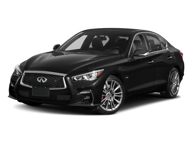Black Obsidian 2018 INFINITI Q50 Pictures Q50 3.0t SPORT AWD photos front view