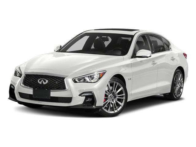 Pure White 2018 INFINITI Q50 Pictures Q50 3.0t SPORT AWD photos front view