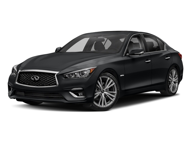 Midnight Black 2018 INFINITI Q50 Pictures Q50 Hybrid LUXE RWD photos front view