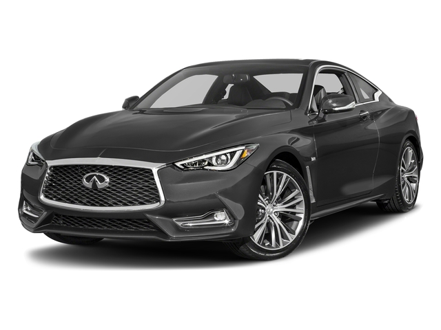 Graphite Shadow 2018 INFINITI Q60 Pictures Q60 3.0t LUXE AWD photos front view