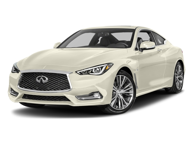 Majestic White 2018 INFINITI Q60 Pictures Q60 3.0t LUXE RWD photos front view