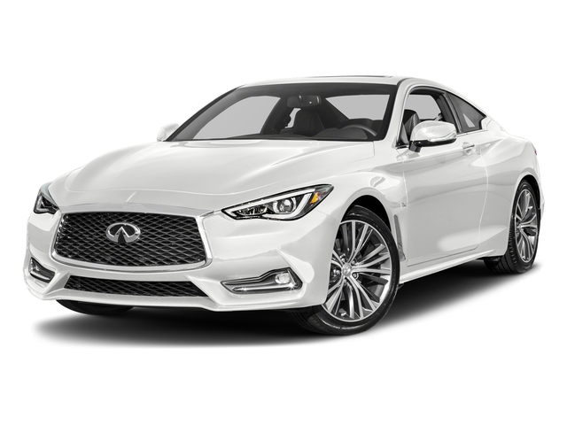 Pure White 2018 INFINITI Q60 Pictures Q60 3.0t LUXE RWD photos front view