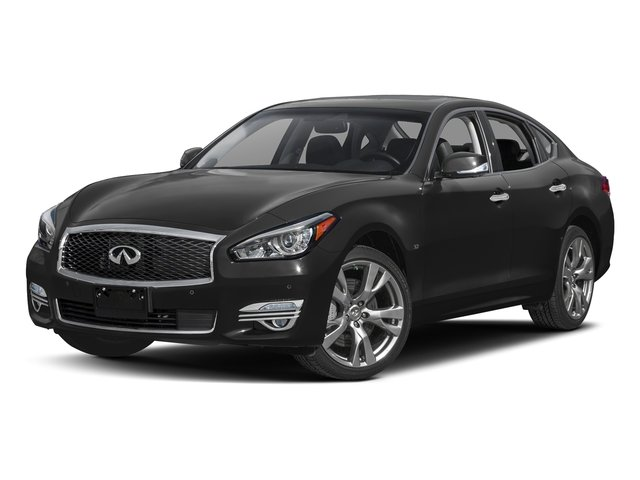 Black Obsidian 2018 INFINITI Q70 Pictures Q70 3.7 LUXE AWD photos front view