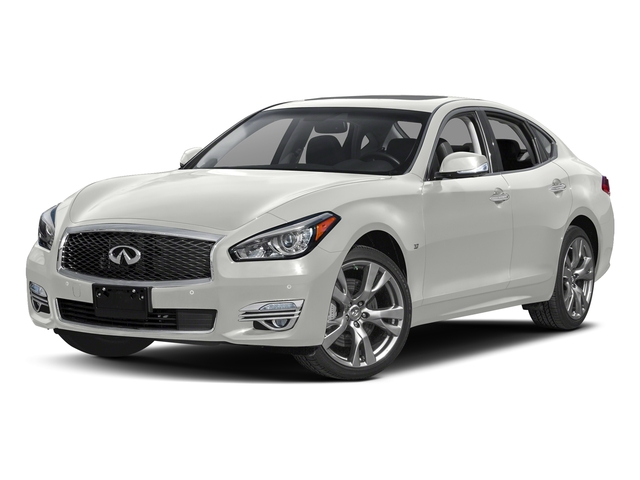 Majestic White 2018 INFINITI Q70 Pictures Q70 3.7 LUXE AWD photos front view