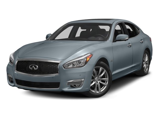 Hagane Blue 2018 INFINITI Q70 Pictures Q70 Hybrid LUXE RWD photos front view