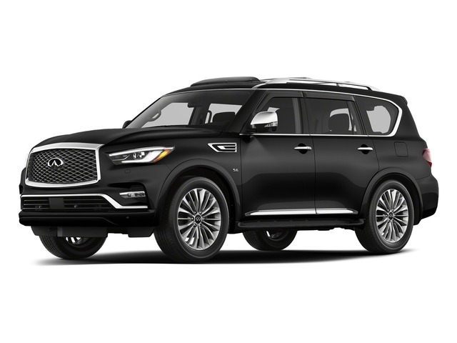 Black Obsidian 2018 INFINITI QX80 Pictures QX80 AWD photos front view