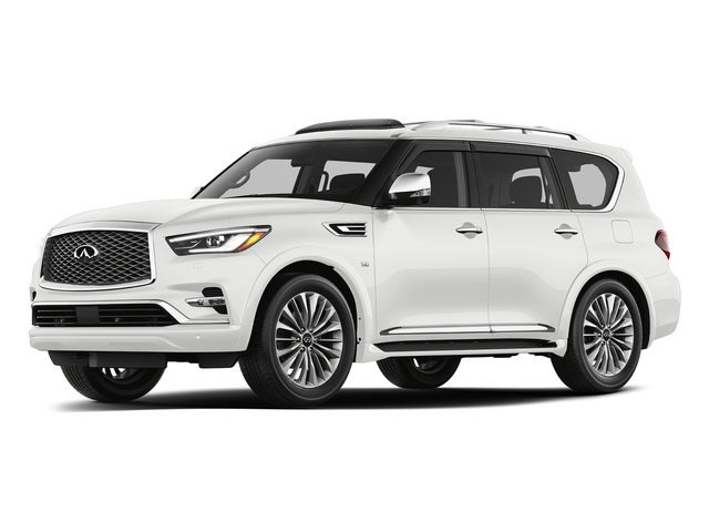 Moonstone White 2018 INFINITI QX80 Pictures QX80 AWD photos front view