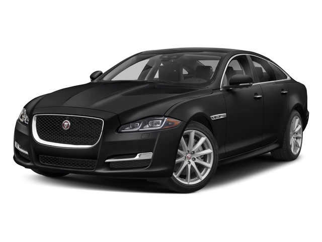 Santorini Black Metallic 2018 Jaguar XJ Pictures XJ XJ Supercharged RWD photos front view