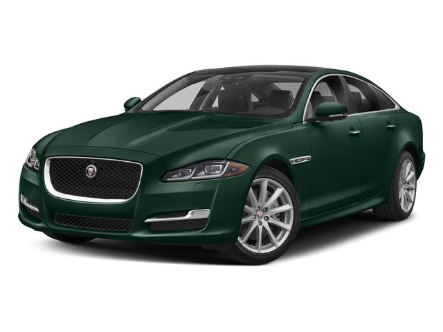 British Racing Green Metallic 2018 Jaguar XJ Pictures XJ XJ Supercharged RWD photos front view