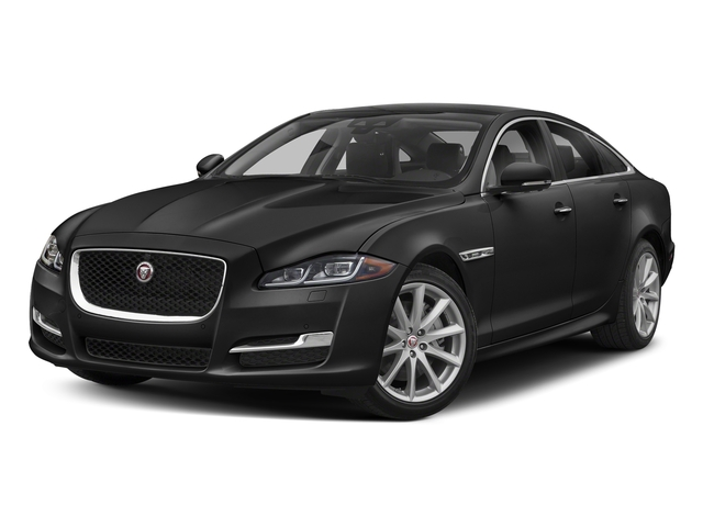 Farallon Black Premium Metallic 2018 Jaguar XJ Pictures XJ XJ Supercharged RWD photos front view