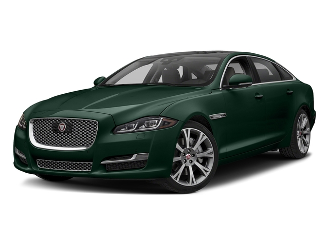 British Racing Green Metallic 2018 Jaguar XJ Pictures XJ XJL Portfolio RWD photos front view