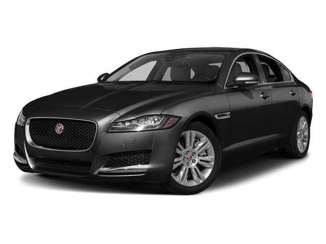 Santorini Black Metallic 2018 Jaguar XF Pictures XF Sedan 25t Premium AWD photos front view