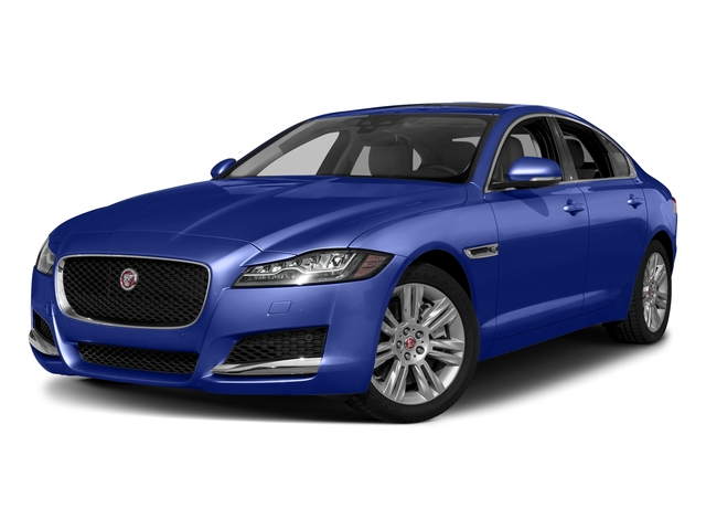 Caesium Blue Metallic 2018 Jaguar XF Pictures XF Sedan 25t Premium AWD photos front view