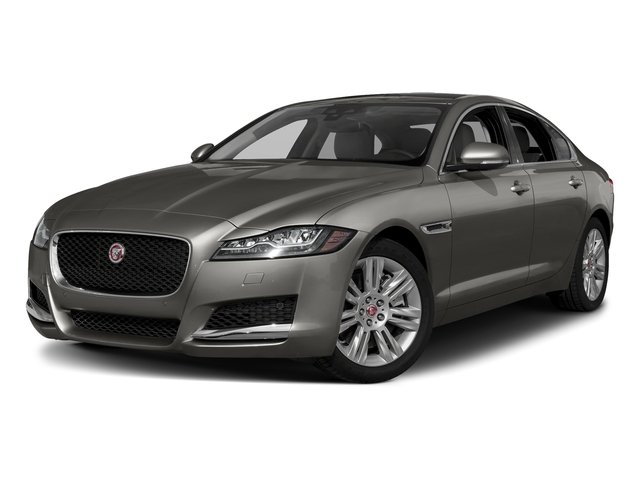 Silicon Silver 2018 Jaguar XF Pictures XF Sedan 20d Premium AWD photos front view