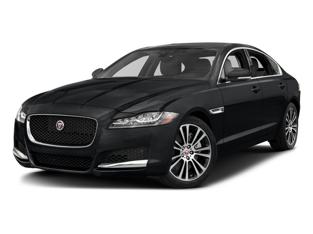 Santorini Black Metallic 2018 Jaguar XF Pictures XF Sedan 35t Prestige AWD *Ltd Avail* photos front view