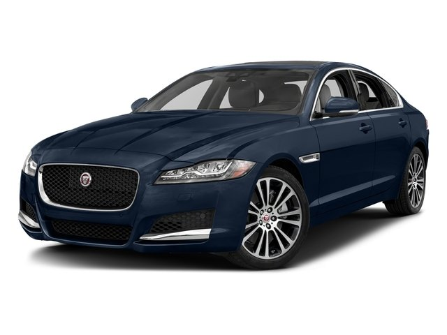 Loire Blue Metallic 2018 Jaguar XF Pictures XF Sedan 25t Prestige AWD photos front view