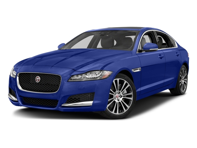 Caesium Blue Metallic 2018 Jaguar XF Pictures XF Sedan 25t Prestige RWD photos front view