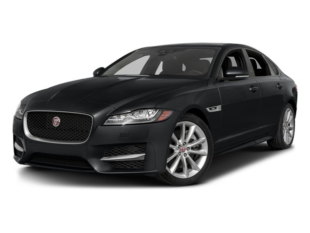 Santorini Black Metallic 2018 Jaguar XF Pictures XF Sedan 35t R-Sport AWD *Ltd Avail* photos front view