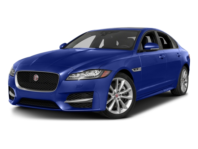 Caesium Blue Metallic 2018 Jaguar XF Pictures XF Sedan 35t R-Sport AWD *Ltd Avail* photos front view