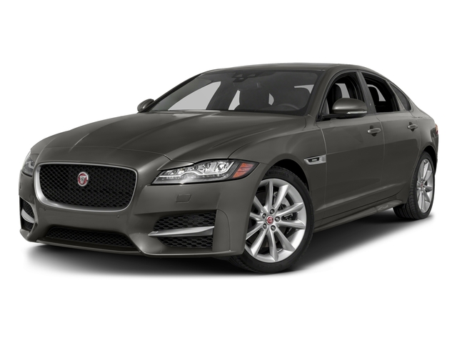 Silicon Silver 2018 Jaguar XF Pictures XF Sedan 35t R-Sport AWD *Ltd Avail* photos front view